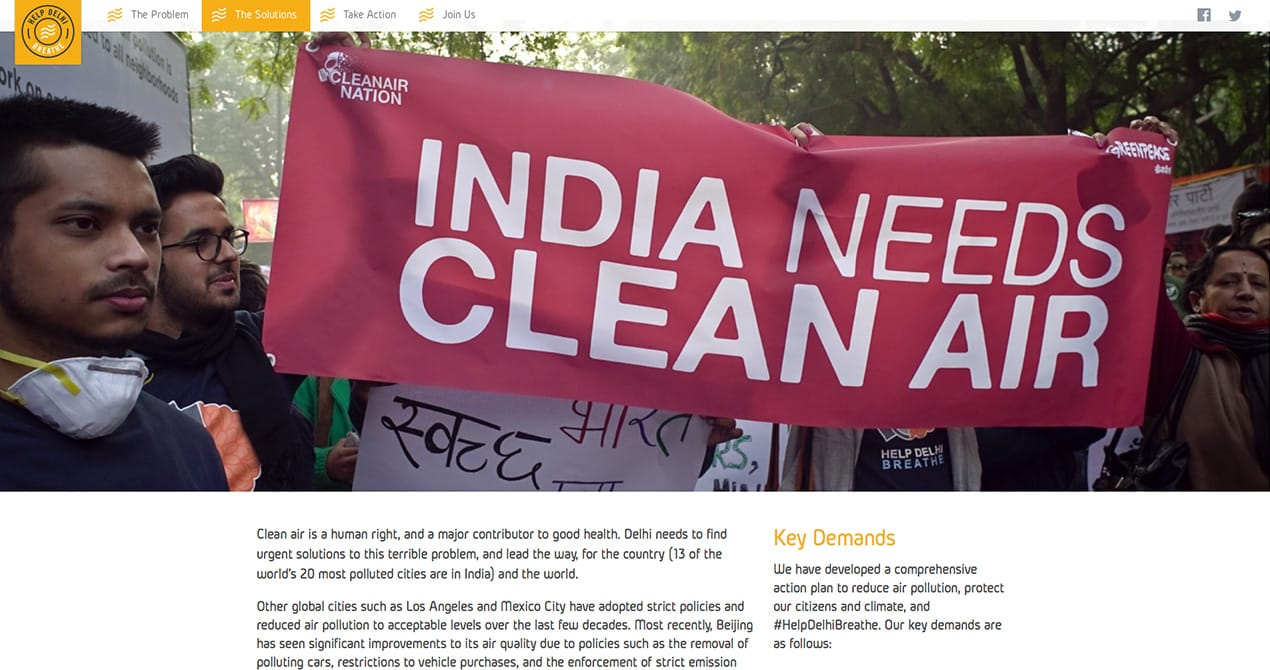 Help Delhi Breathe screenshot